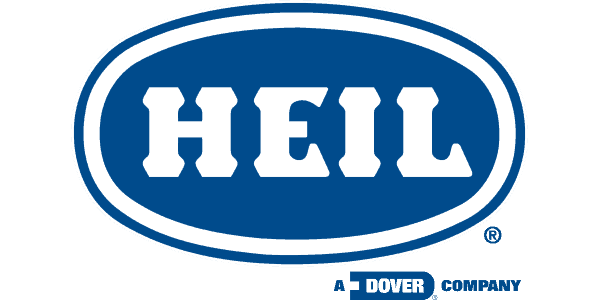 heil in white text in the centre of a blue oval