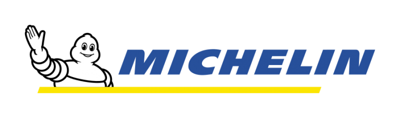 a ghost man waves next to blue text that reads michelin