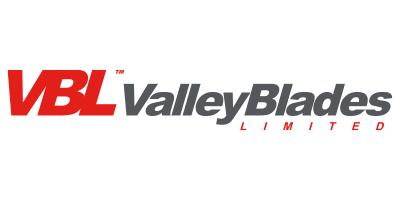 valley blades in grey text